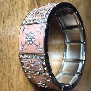 Vintage Pink Mary Kat Stretch Bracelet